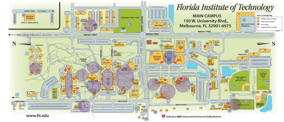 Map Of Florida Melbourne.Wireless Network Florida Tech
